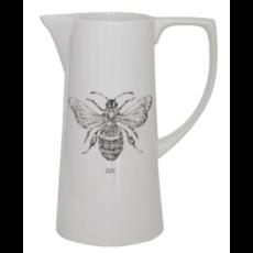 Creative Coop Ceramic Pitcher with Bee