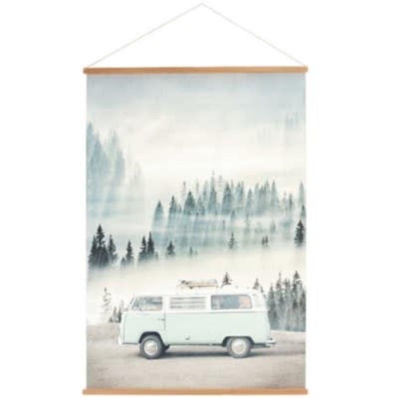 The Pine Centre VW Van Canvas Banner