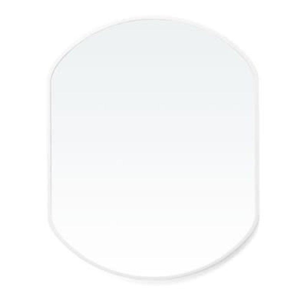 The Pine Centre brady lg mirror oval white