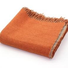Harlow Henry Reversible Throw - Linen/Merino Wool - Orange