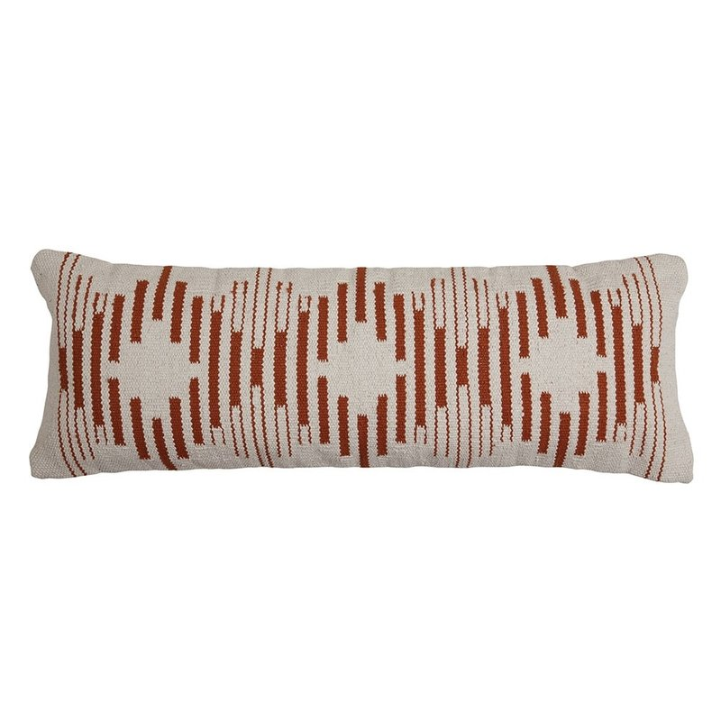Casa Amarosa Terra Diamond Lumbar Pillow - 12 x 34 inch