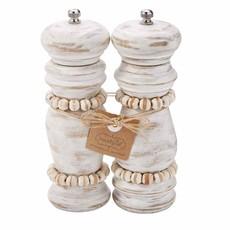 White Beaded Grinder Set