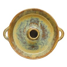 Creative Coop Stoneware Dish with Toothpick Holder