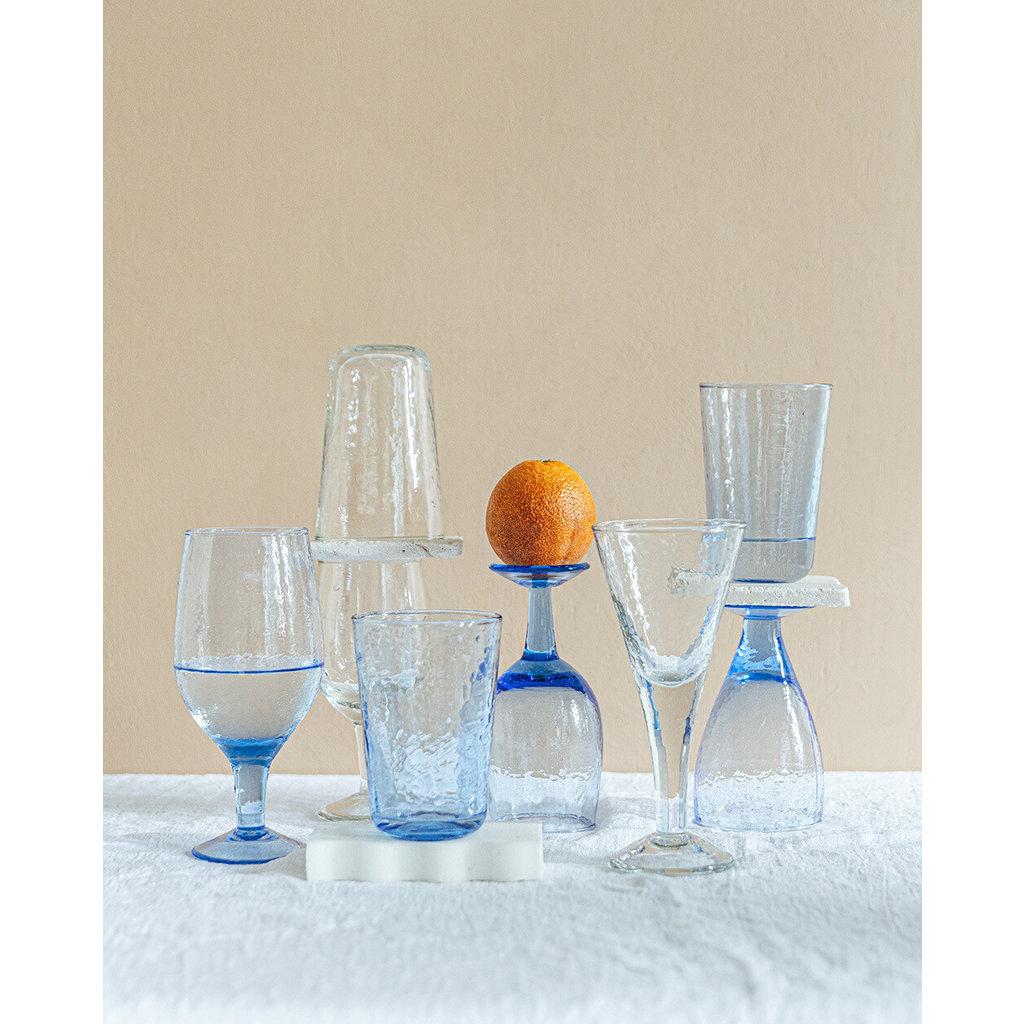 Indaba Valdes Water Glass - Blue