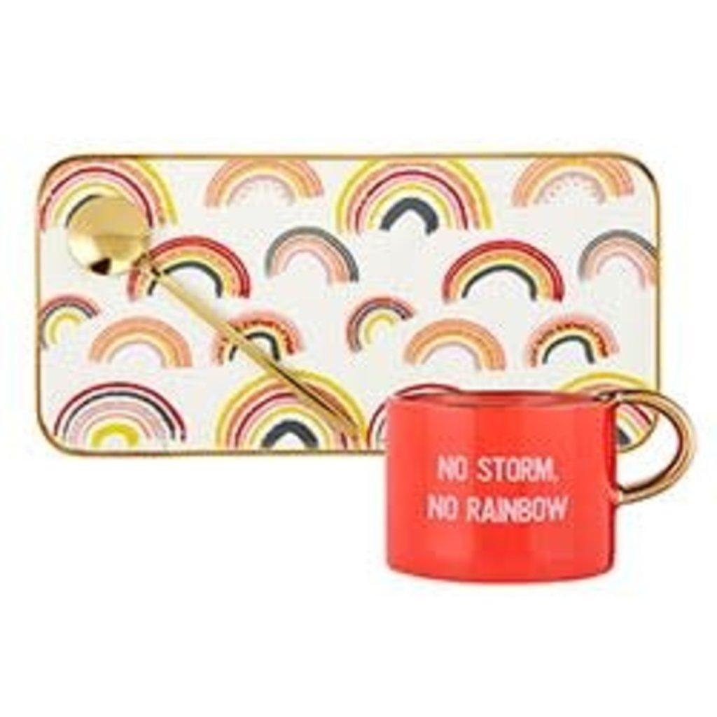 6oz Mug Tray Set - Rainbow