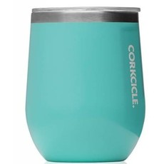 Corkcicle Stemless Wineglass - 12 OZ Turquoise