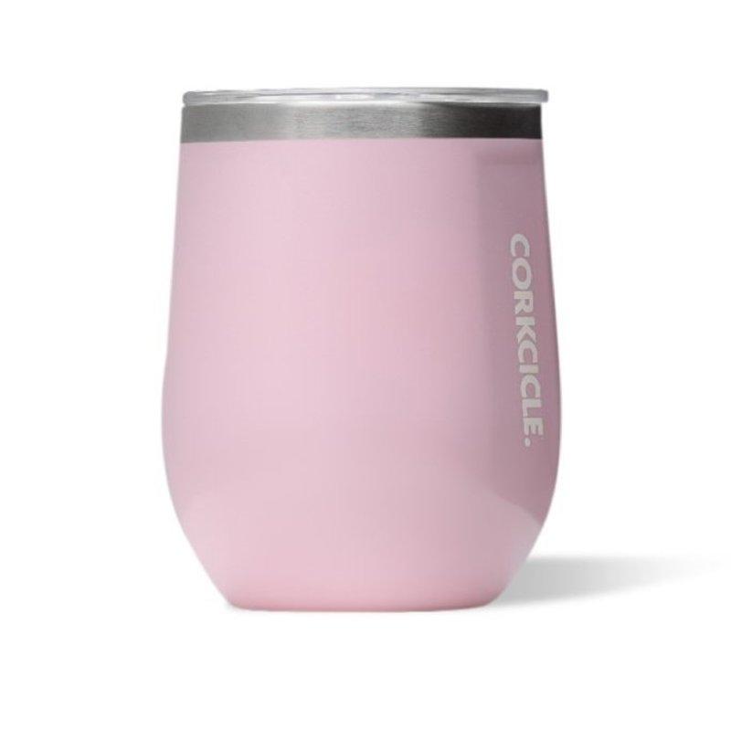 Corkcicle Stemless Wineglass - 12 OZ Gloss Rose Quartz