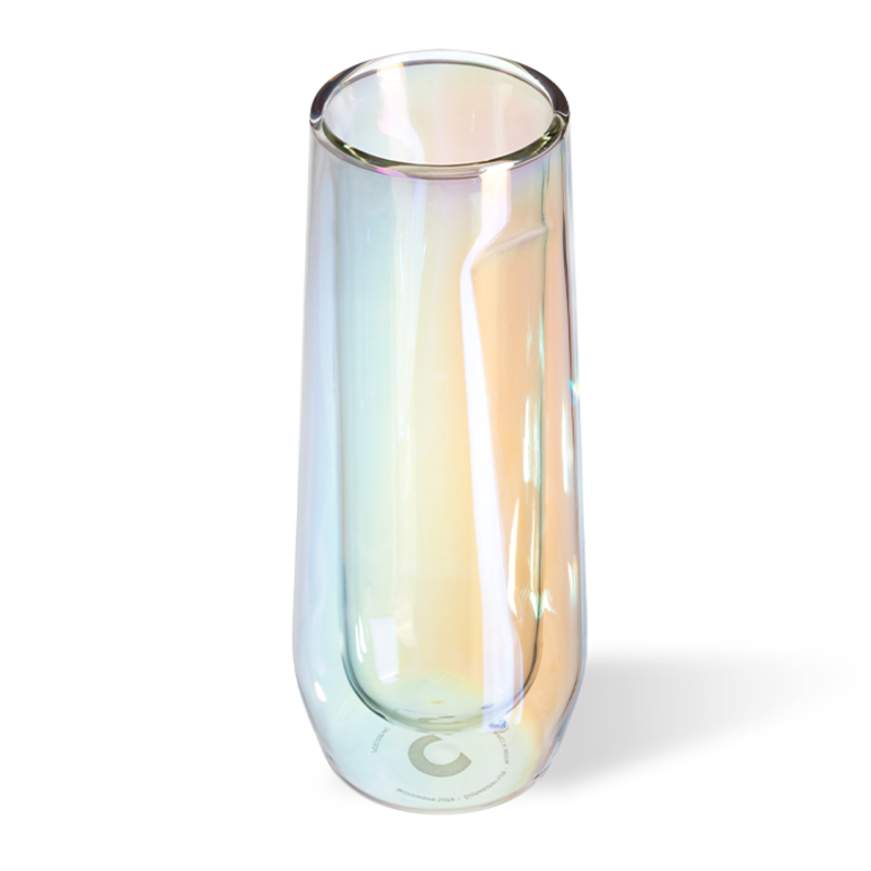 Glass Flute - 7oz Double Pack- Prism