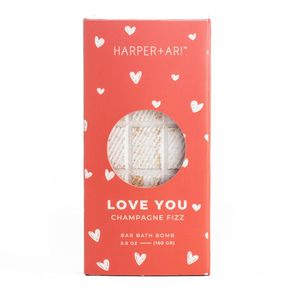 Harper + Ari Love You Champagne Fizz Bath Bar