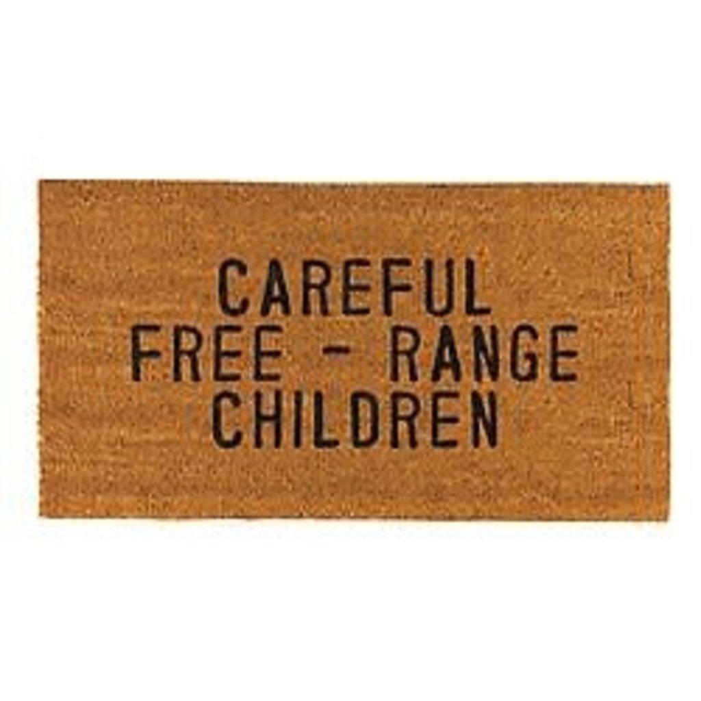 Santa Barbara Design Studio Careful Free Range Children Door Mat
