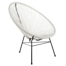 Joseph Allen Home Acapulco Lounge Chair, White