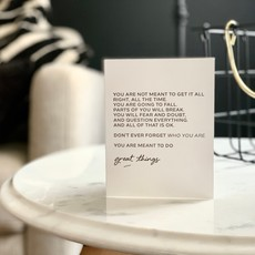 Wrinkle and Crease Paper Products Meant to Do Great Things - Greeting Card