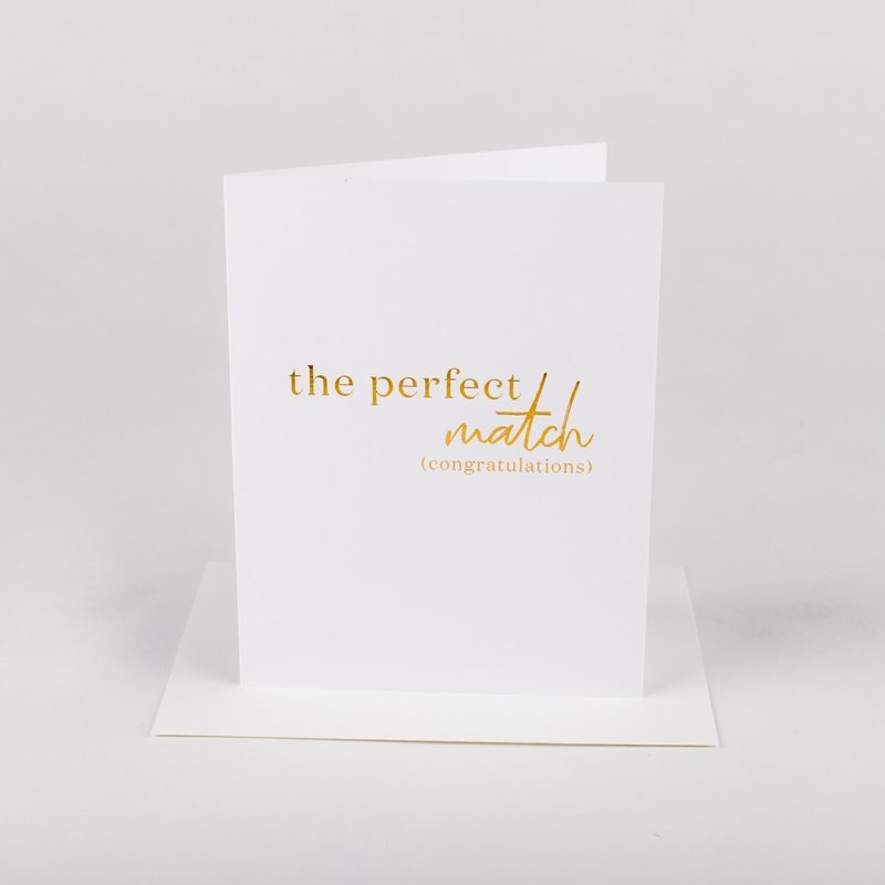 Wrinkle and Crease Paper Products Perfect Match - Greeting Card