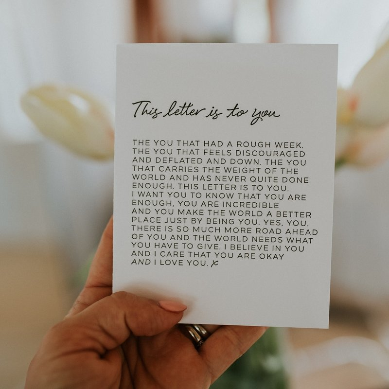 Wrinkle and Crease Paper Products This Letter is to You - Greeting Card
