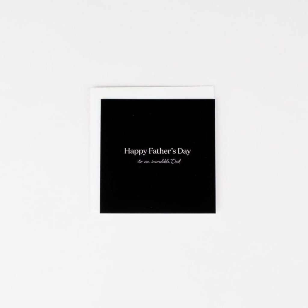 Wrinkle and Crease Paper Products Happy Father's Day - Mini Notecard