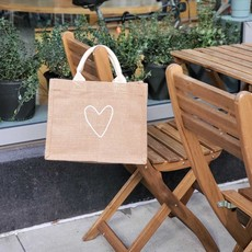 Korissa Heart Gift Bag - jute