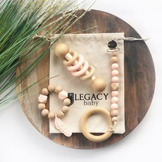 Legacy Learning Academy Feather Baby Gift Set - Peach
