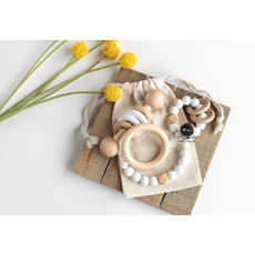 Legacy Learning Academy Modern Baby Gift Set - Marble White