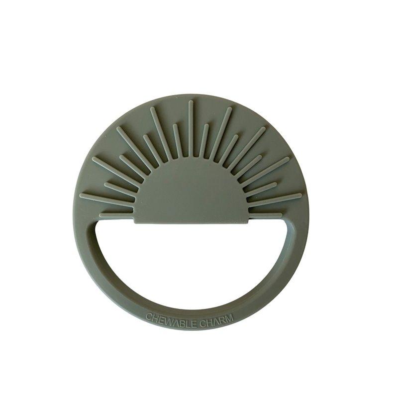 Chewable Charm Sun Silicone Teether - Slate Sage