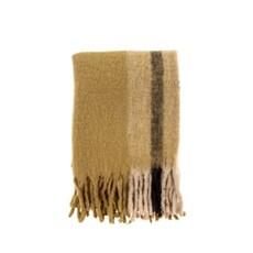 Indaba Whistler Woven Throw, Gold