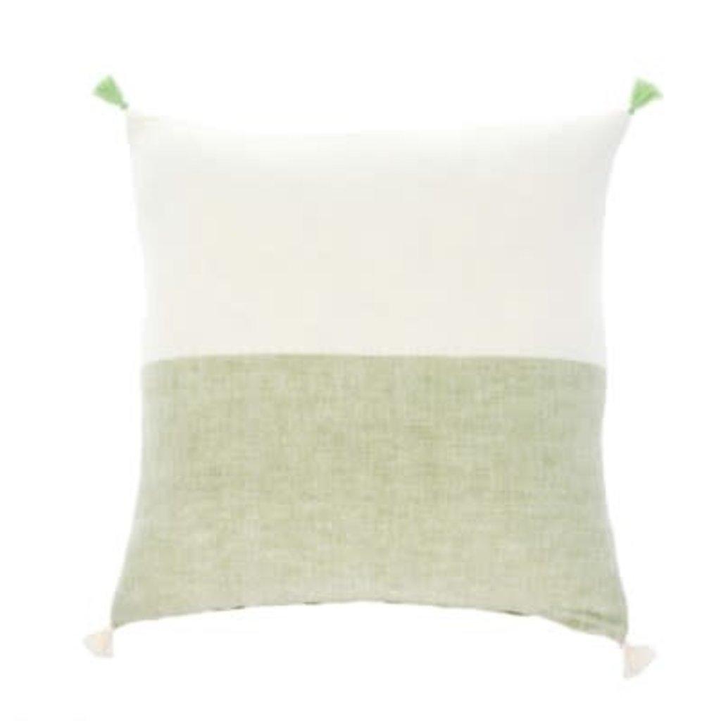 Indaba 20x20 Layla Linen Pillow, Green