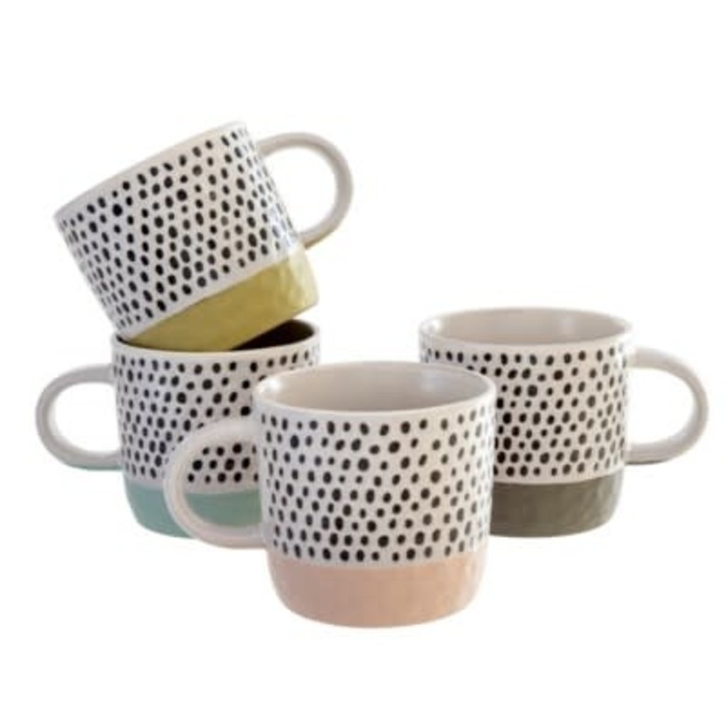 Indaba Polkadot Mugs Set of 4