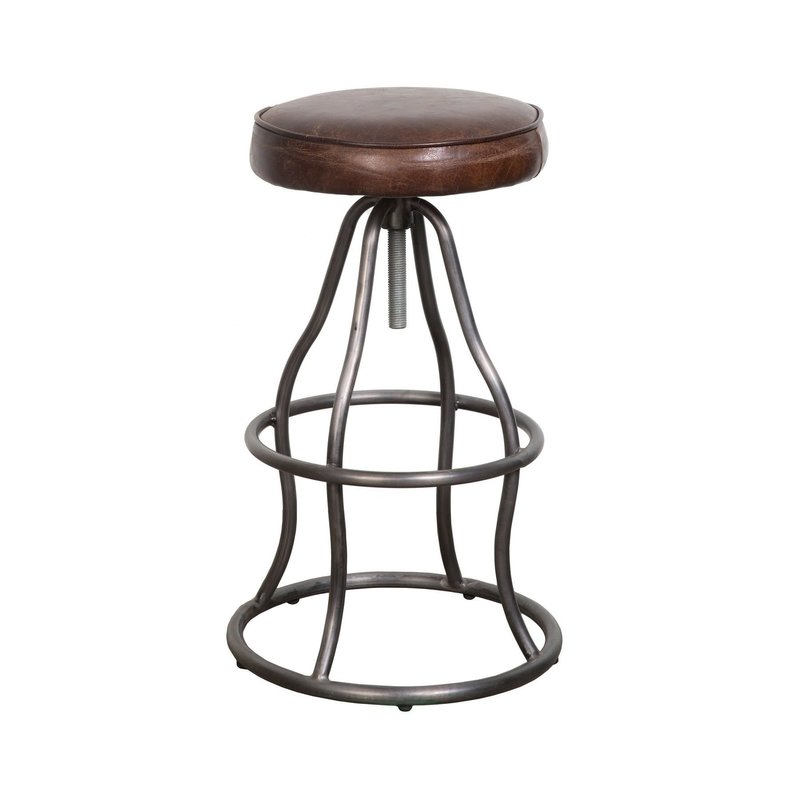 Bowie Bar Stool - Vintage Brown Leather