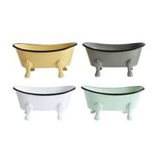 Creative Coop Metal Bathtub Soap Dish, 4 Colors