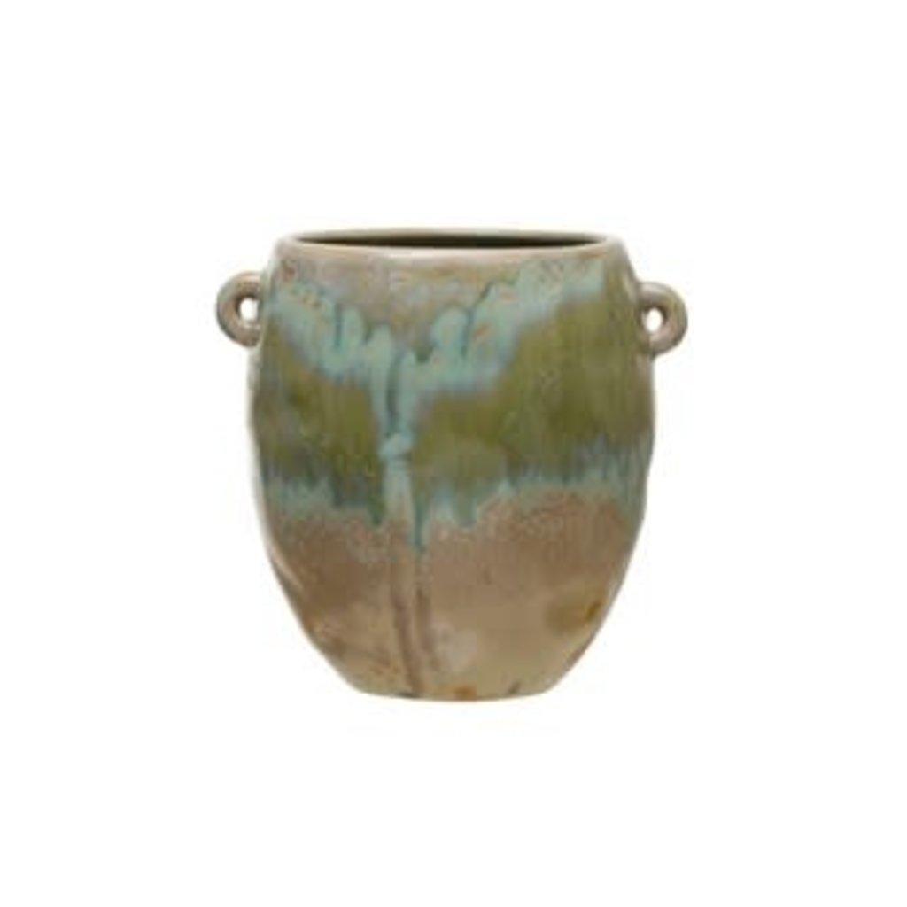 Creative Coop Stoneware Crock - Opal Reactive Glaze