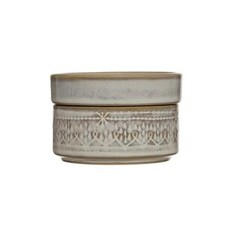 Creative Coop Stoneware Stackable Container/Dish