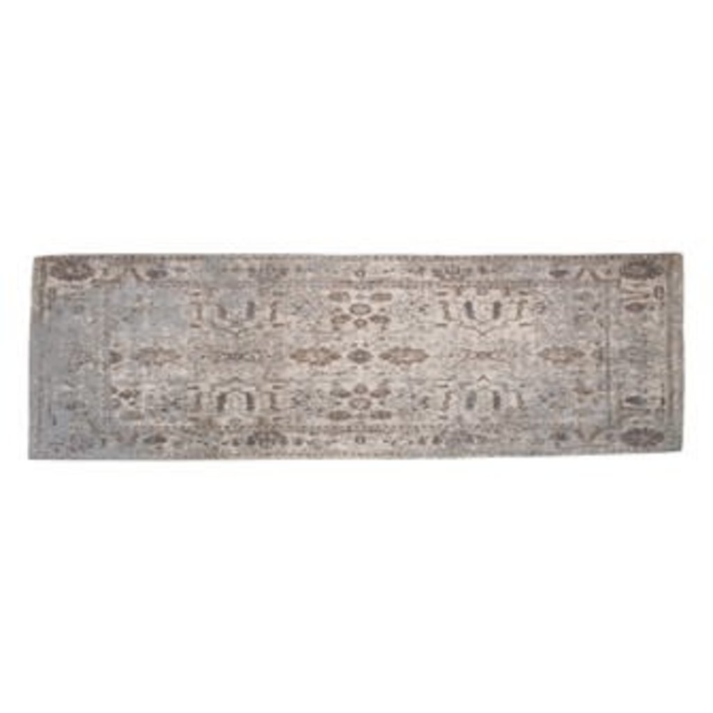 Creative Coop Cotton Runner, Distressed Finish