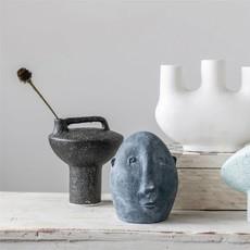 Creative Coop Terra-cotta Vase with Handle - Black