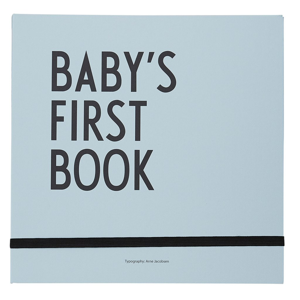 Design Letters Baby's First Book - Blue