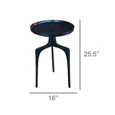 HomArt Rothko Side Table, Bronze - Bronze