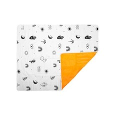 Faire Wash Me Beach Picnic Blanket Icons - Black White and Neon
