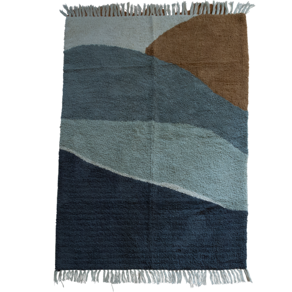 Blue Ocean Breeze Cotton Accent Rug
