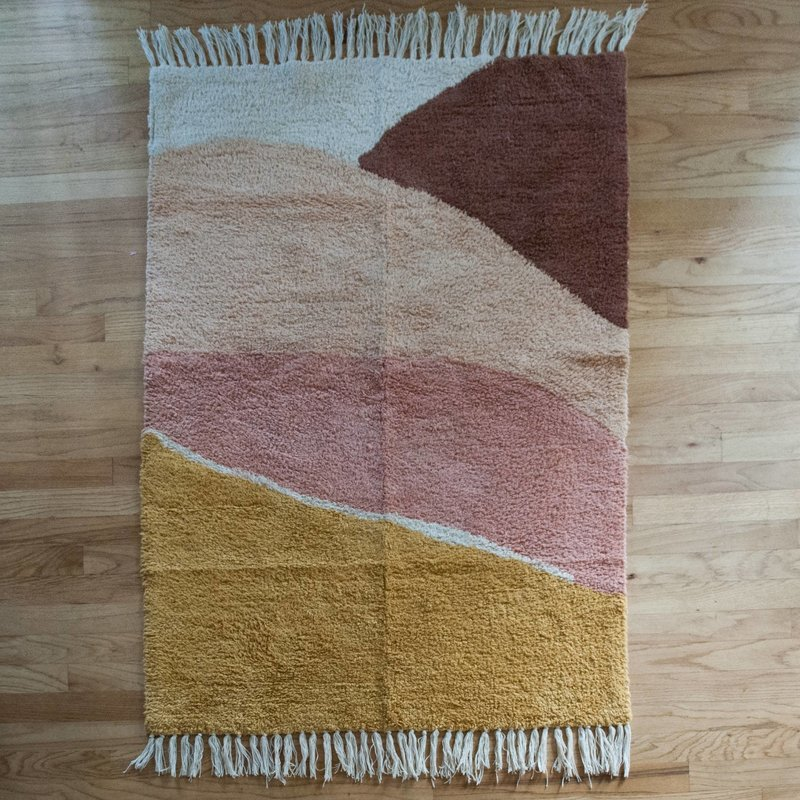 Pink Sunset Cotton Accent Rug