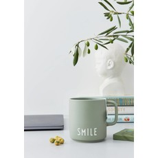 Faire - Design Letters Favourite Cup Porcelain Mug with Handle - Green