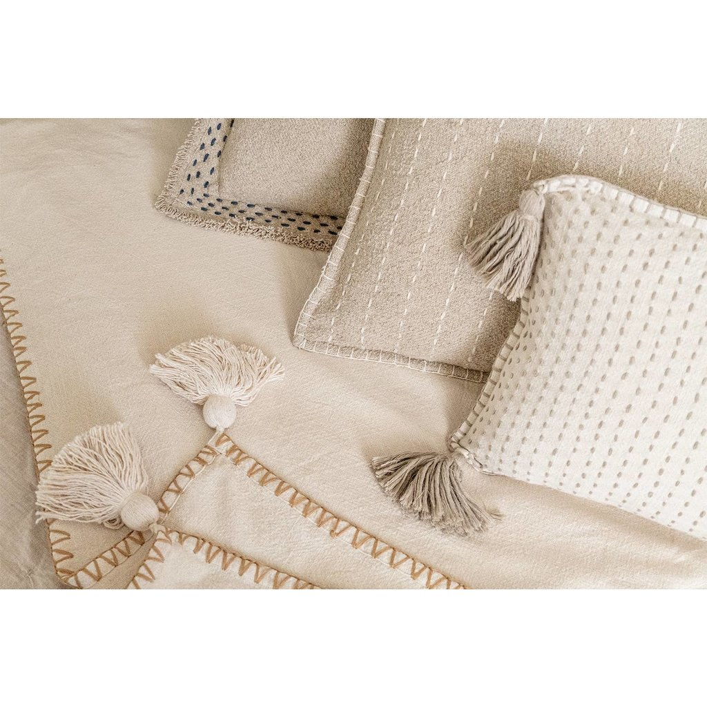 Faire - Anaya Home Hand Quilted Border Cotton Pillow