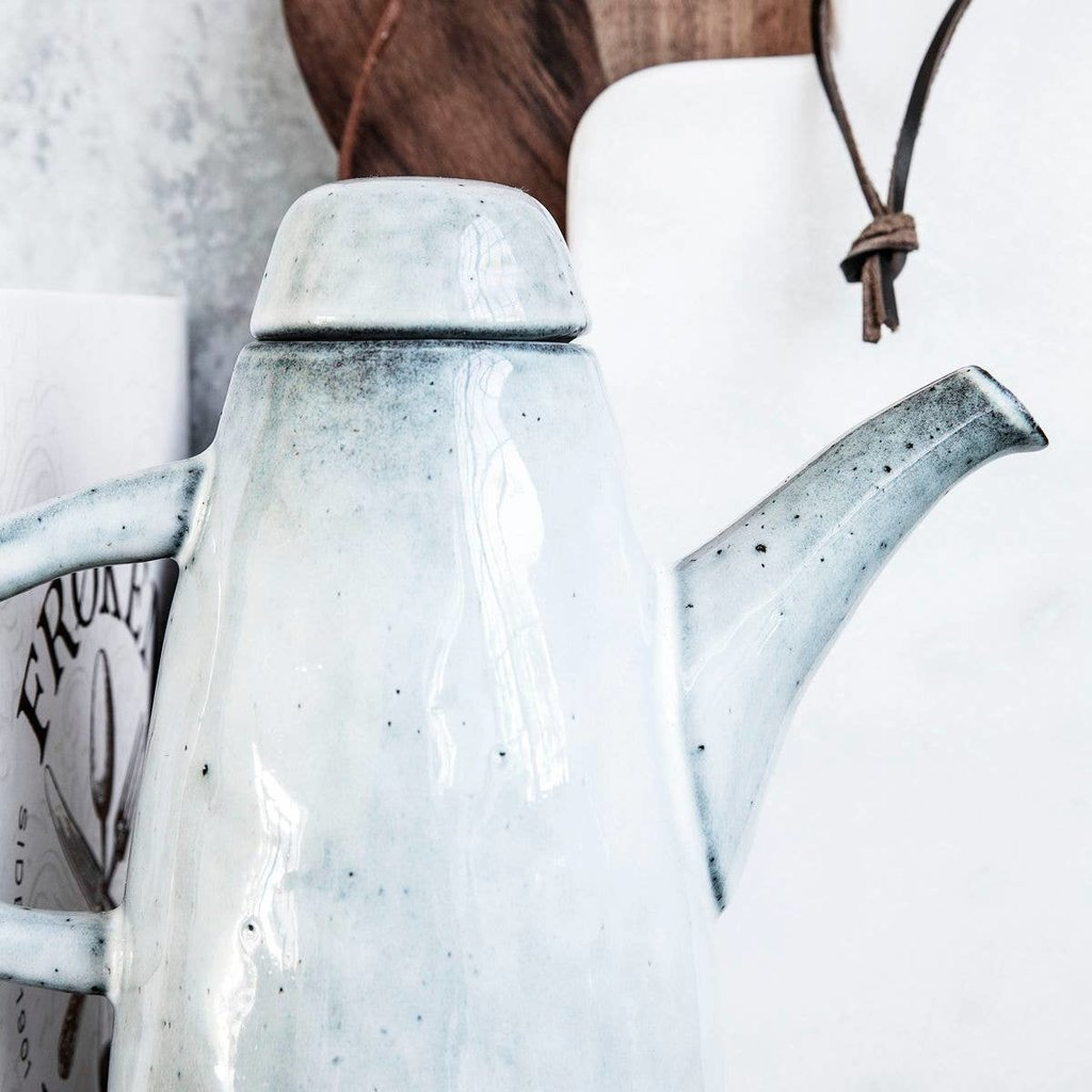 Faire - Society of Lifestyle Jug w. lid, Rustic, Grey/Blue