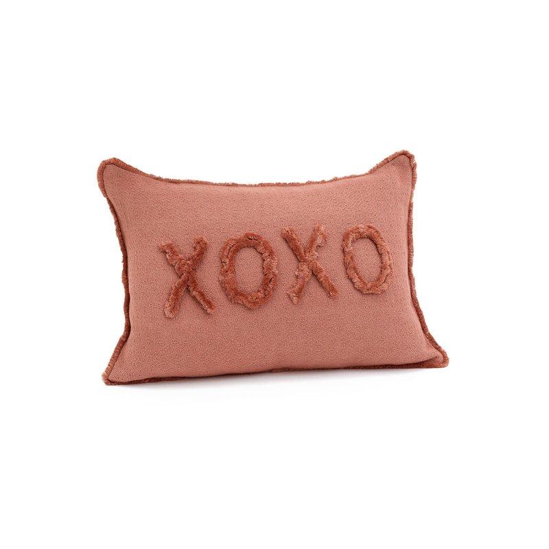 The Pine Centre XOXO Pink Throw Pillow