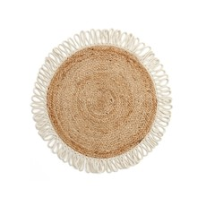 The Pine Centre Rug - Round Jute with Fringe