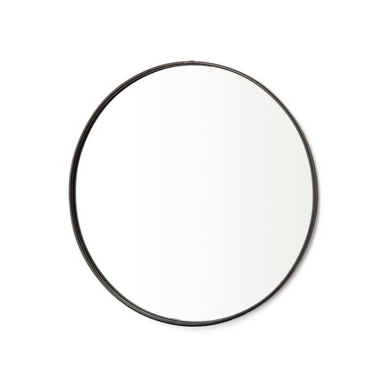 The Pine Centre Round Iron Mirror - Black
