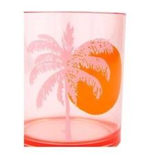 Sunnylife Poolside Tumblers Desert Palms - Powder Pink Set of 2  