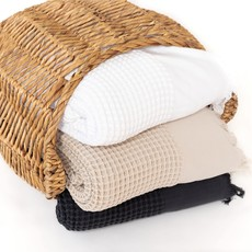 The Breeze Waffle Bed Cover - White - King