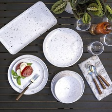 "Faire - Tarong Terrazzo Dinner Plate 10.5"" Melamine"