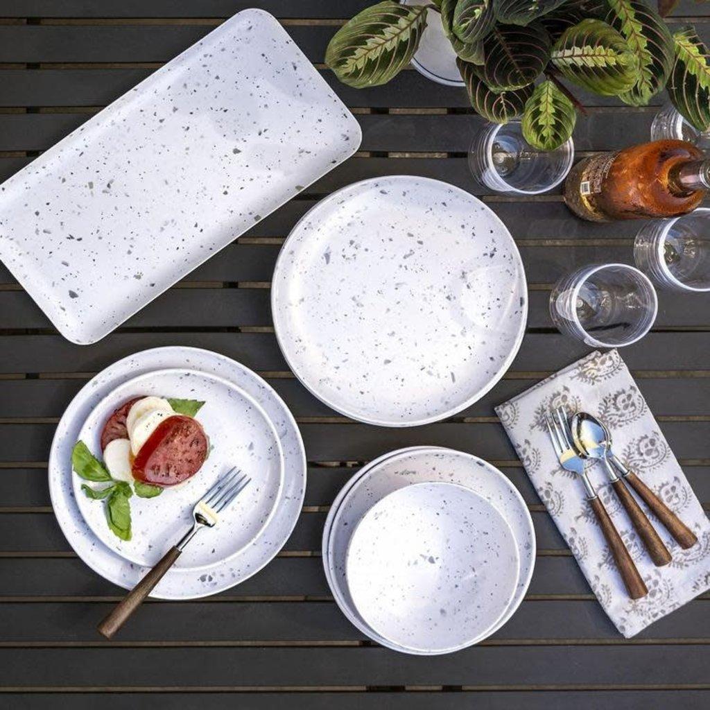 "Faire - Tarong Terrazzo Salad Plate 8.5"" Melamine"