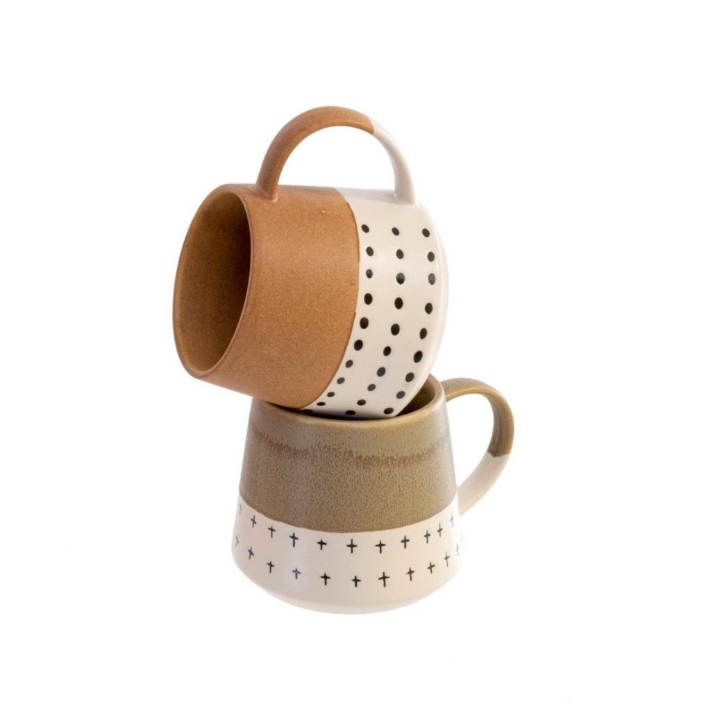 Indaba Doodle Mugs Set of 2