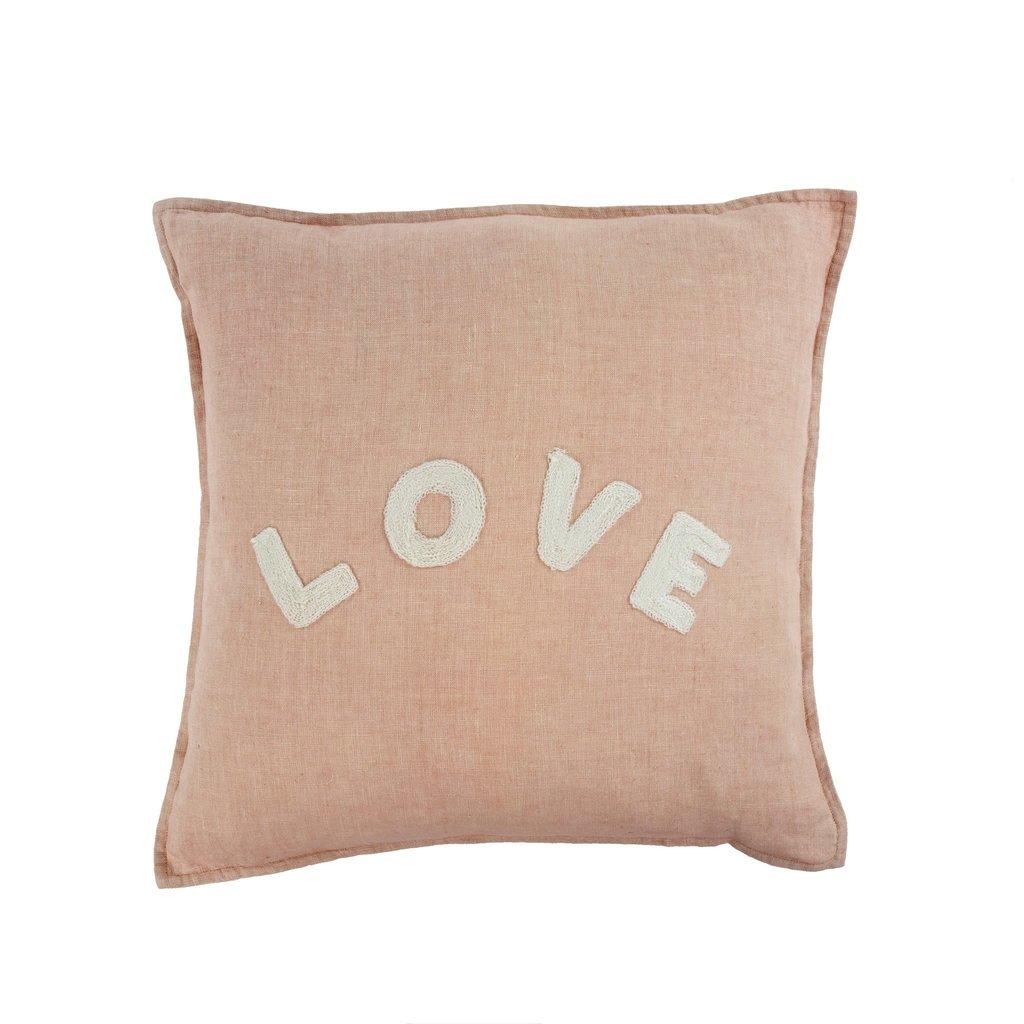 Indaba Love Linen Pillow