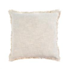 Indaba Selena Linen Pillow, Ecru
